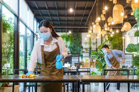 vorbildliche Hygienemaßnahmen in der Gastronomie