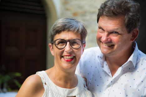 Wirte, Winzer und Hoteliers: Eva Pfaff-Düker und Ralph Düker bauen einen der besten Rieslinge der Welt in Volkach am Main an