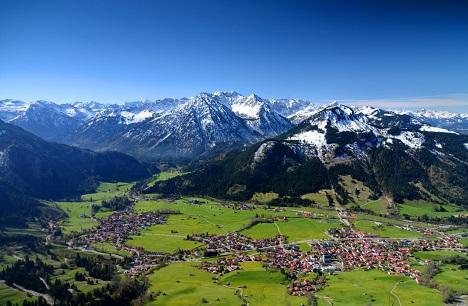 Bad Hindelang, Foto von oben.