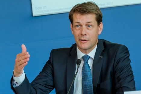 DEHOGA-Präsident Zöllick stellt den Branchenbericht vor Foto/© DEHOGA Bundesverband/Svea Pietschmann