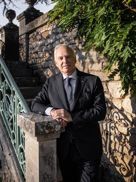 Das Foto zeigt Präsident Relais & Chateaux Philippe Gombert