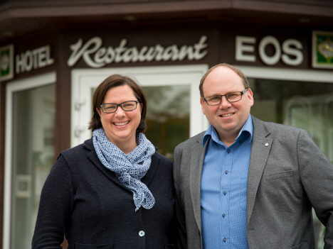 Hoteliers Andrea und Olaf Iskra